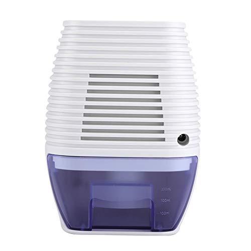 DeshumidificadorEléctrico, MiniDeshumidificador 300ml, de ABS, con Luz, para Absorber la Humedad del Aire y Mantener la...