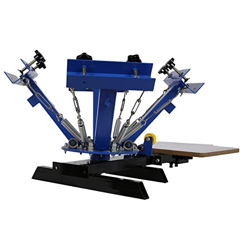 Ridgeyard silk screen printing press printer 4 color 1 for Screen printing shirt prices