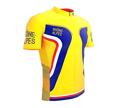 ScudoPro Rhone Alpes France Short Sleeve Full Zipper Cycling Bike Jersey  for Men Size L 8655f4270