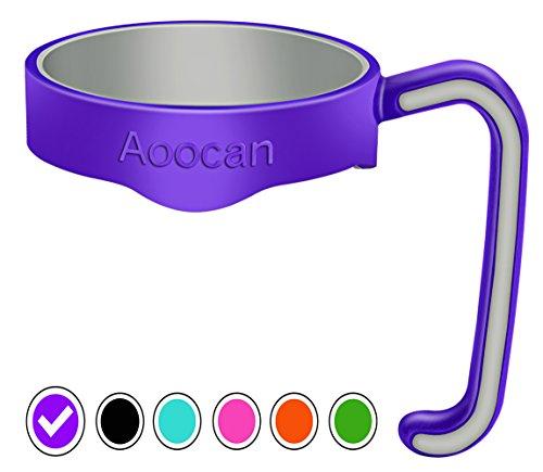 Aoocan Handle for Yeti Rambler 20 oz Tumblers, Rtic, Sic Cup Ozark Trail and more Tumbler mug (Purple)