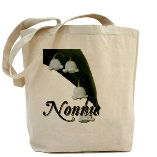 Cafepress–Nonnie–Borsa di tela naturale, tessuto in iuta