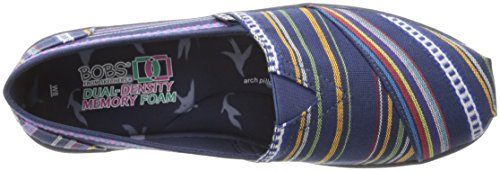 On Women's Fashion Flat Slip Multi Bliss BOBS Skechers Navy from nPv44B