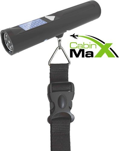 Cabin Max Digital Portable Travel Luggage Scale with 8 LED Torch 56561