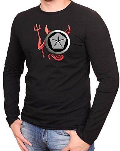Chrysler - Devil Teufel Auto Logo car Schwarze Langarmshirt -239-LA