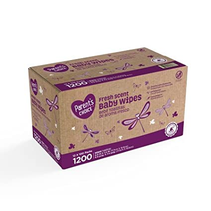 Amazon.com: Parents Choice Fresh Scent Baby Wipes, 12 packs of 100 (1200 count): Home & Kitchen