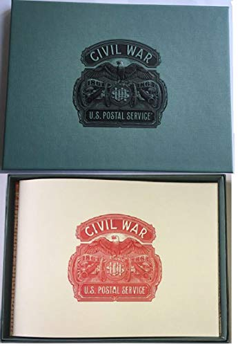 The Civil War (1861-1865) Limited Edition Boxed Set with all 5 Commemorative USPS Forever Stamp Sheets and a striking 23 page book