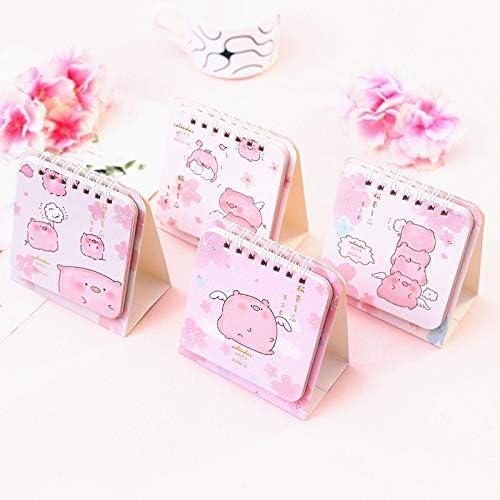 Tischkalender Kalendarien 2020 Kirsch Kalender DIY Mini rosa Schwein Schreibtisch Tägliche Terminplaner Scheduler Tabelle Planner Jahres Agenda 2020 (Color : Random colour)