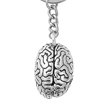 TOOGOO Llavero Cerebral Cadena Anillo de Llave Ci Brainiac ...