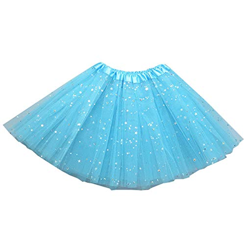 (storeofbaby Little Girls Tutu Skirt Cute Soft Solid Sparkle SequinsTulle Costume )