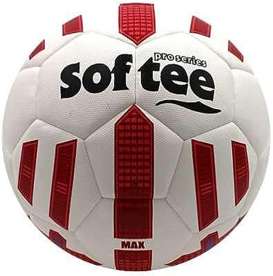 Balon Futbol HIBRIDO Softee MAX - Futbol 11 - Color Blanco Y Rojo ...