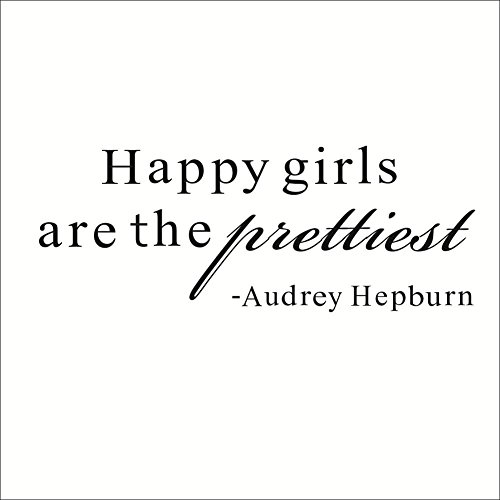 Happy girls are prettiest Vinyl DIY Room Decor Art Wall Stickers decal Decoration for home