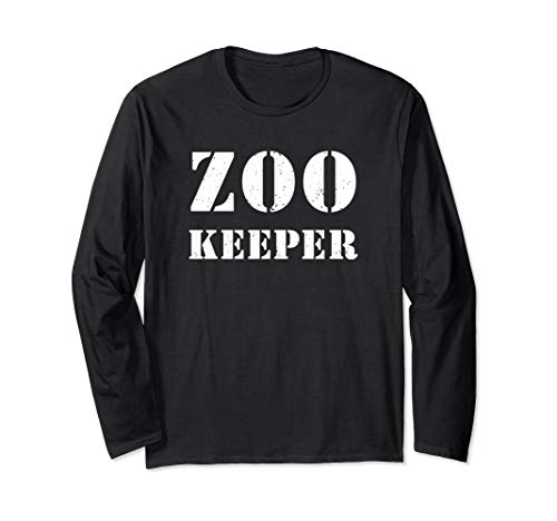 (Zoo Keeper Costume Halloween Shirt Distressed Text)