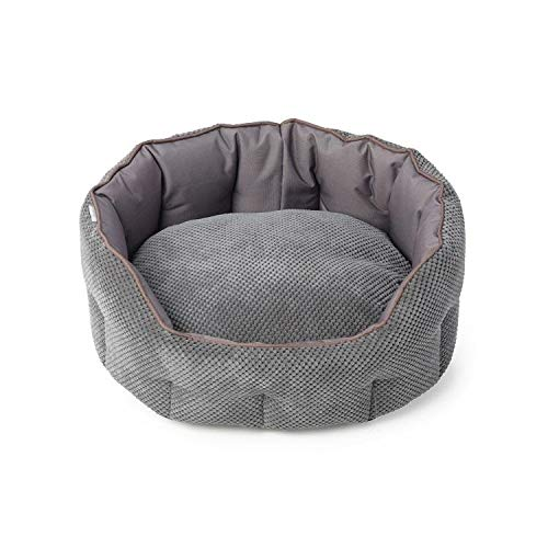 House of Paws HP965G-S House of Paws Cord & Water Resistant Oval Snuggle Bed, S