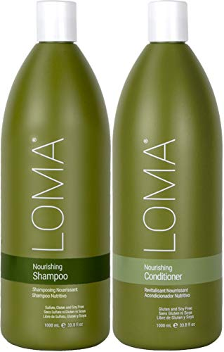 Loma Hair Care Nourishing Shampoo Nourishing Conditioner Duo, 33 oz.