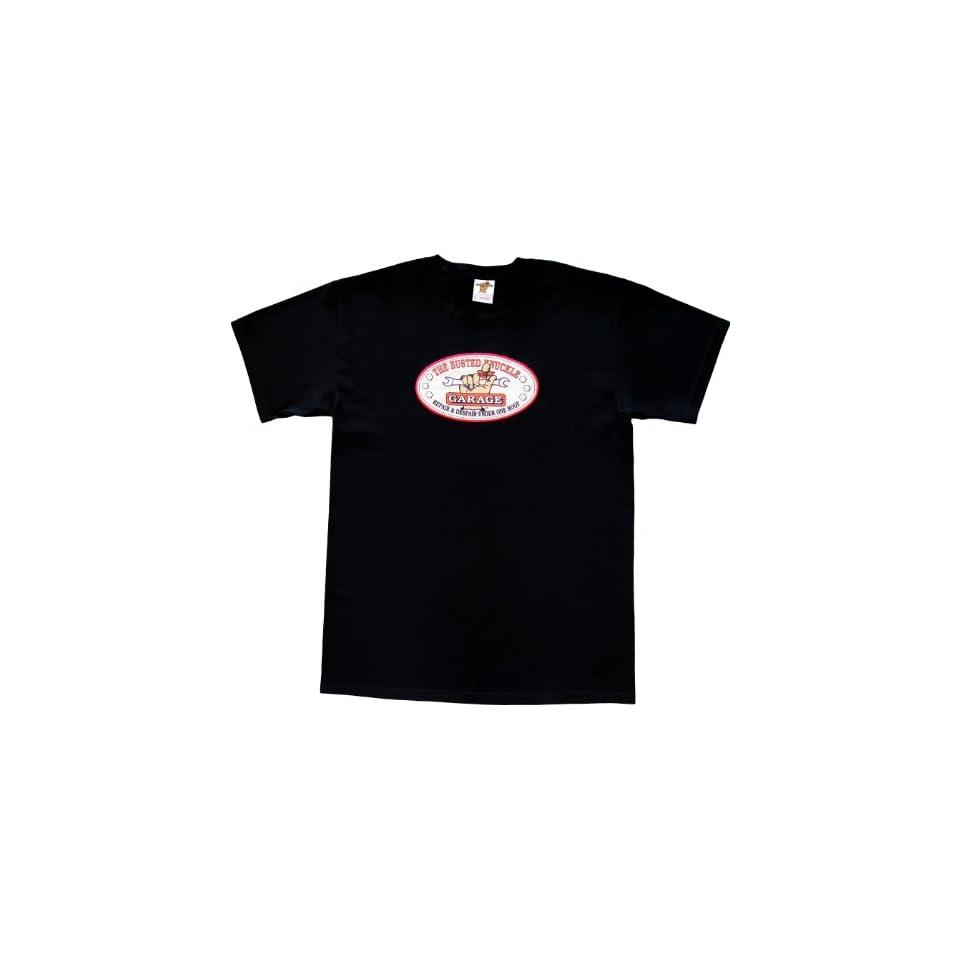 Busted Knuckle Garage BKG APLQM Black Medium BKG Applique T shirt