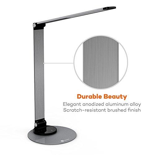 Taotronics Aluminum Alloy Dimmable Led Desk Lamp With Usb