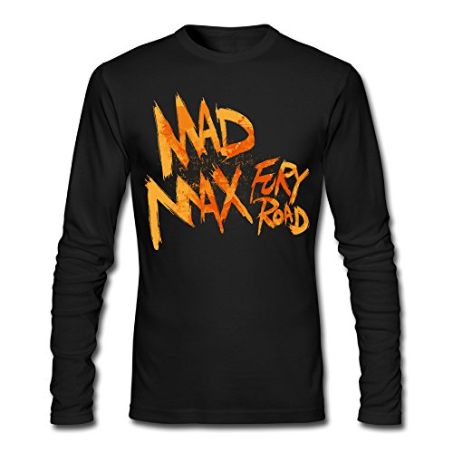 LCNANA Mad Max Fury Road Men's Spring And Autumn Cotton Long-Sleeved T-Shirt Black XL