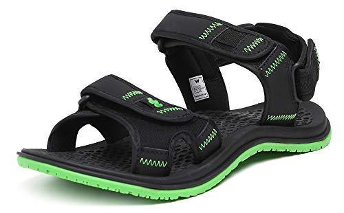 Green Sport Sandals WC 51556 BLK_GRN