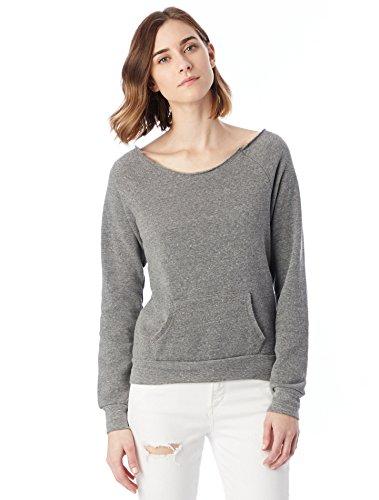 Coast Fleece Sweatshirt - Alternative Women's Maniac Fleece Sweatshirt, Eco Grey, X-Large