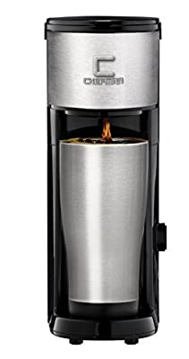 Chefman Coffee Maker K-Cup VersaBrew Brewer with included BONUS TRAVEL MUG and FREE FILTER For Use With Coffee Grounds - Rapid Boil - Small Footprint Single Serve - RJ14-SKG-M