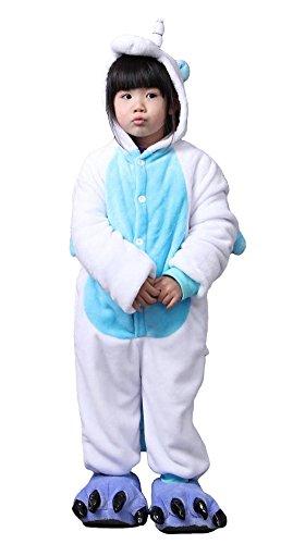 Tonwhar Volwassen & Kinderen Maat Fuzzy Bear Paw Animal Slippers Blauw