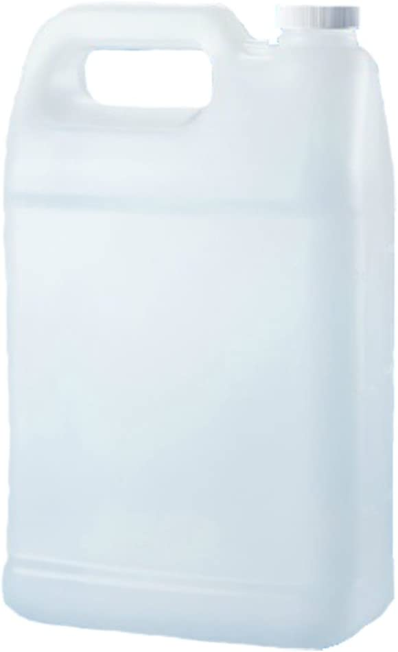 Verdana Plastic Jug - 1 Gallon - Rectangular Flat - HDPE Material - Natural (Translucent) Color - Compact 3.9 inch thickness