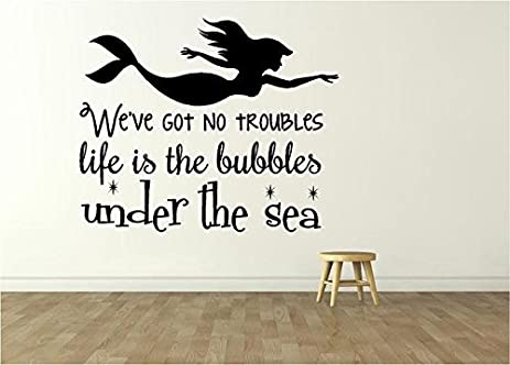 Little Mermaid Movie Decor   Vinyl Wall Decal   Kidu0027s Bedroom Decoration |  20u0026quot;x20u0026quot