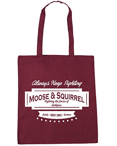 Tote Squirrel Burgundy x38cm 10 Beach Bag 42cm Gym Family litres Moose Since HippoWarehouse Shopping amp; Business 2005 wEqO0qxaT