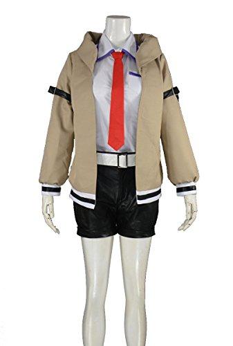 [RedstarCosplay Steins Gate Makise Kurisu Cosplay Costume - Female XS] (Kurisu Makise Cosplay Costume)
