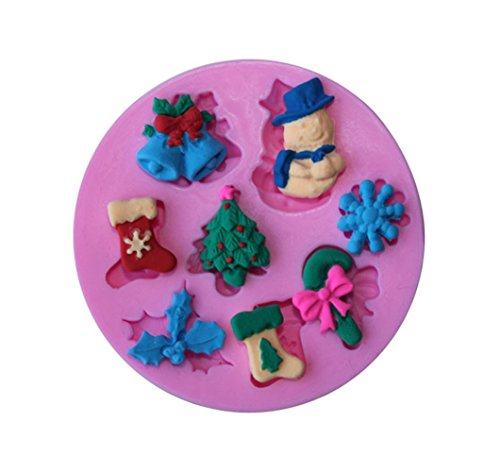 Christmas Gift - Christmas Fondant Silicone Sugar Mold Cake Decorating - Snowman snow cake mold (Snowman Make Up)
