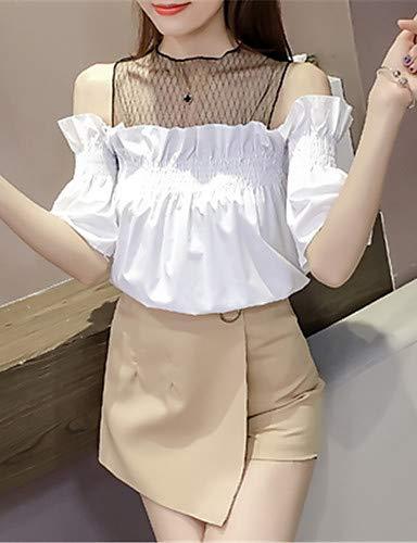 Femme Unie Couleur White YFLTZ Blouse tSqq5