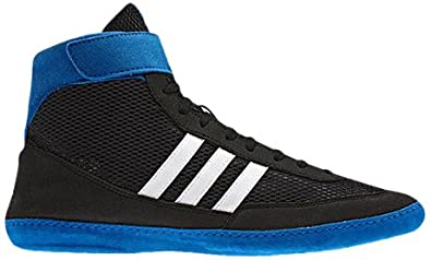 purchase cheap 2ee83 239d2 Image Unavailable. Image not available for. Colour  Adidas Wrestling Men s Combat  Speed 4 Wrestling Shoe,Black Running White Blue Beauty