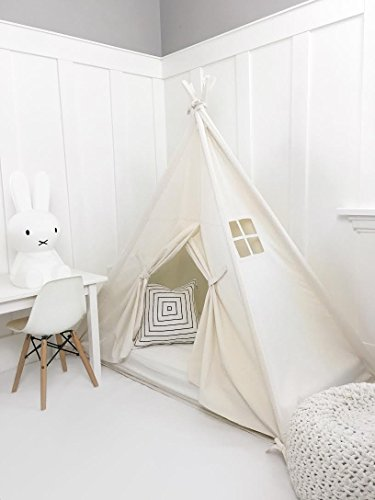 Domestic Objects Handmade Cotton Play Tent Canopy. Great for Toddler Transition to Big Bed - Crib with Doors