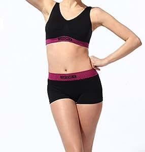 BADI NA Women Wireless Seamless Shorts Racerback Sports Fitness&Yoga Gym Bra ...