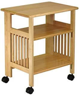 winsome wood foldable mission cart natural - Kitchen Side Tables