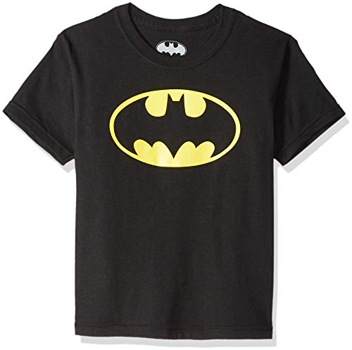 Batman Glow Ink Classic Logo Youth T-Shirt M Black