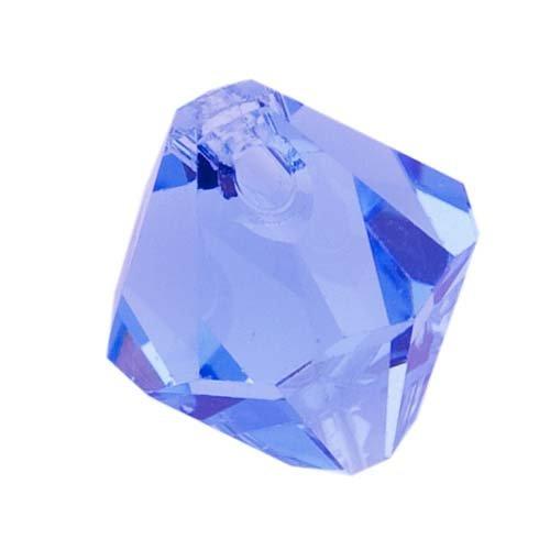 (SWAROVSKI ELEMENTS Crystal #6301 6mm Bicone Pendant Beads Light Sapphire (10))