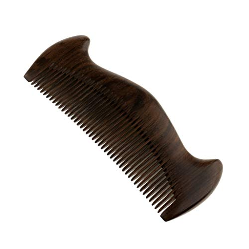 (Wood Beard Mustache Brush Grooming Comb Hair Care Massage Fine Teeth Comb (Style - 6-7))