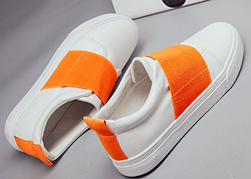 Maybest Donna Casual Mocassino Outdoor Scarpe Basse Slip-on Scarpe Sneakers Patchwork Color Caramella Arancione
