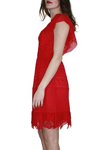 Flame Liu Red Damen Jeans Jo Kleid Rot Schlauchkleid 8qxw1BqTP