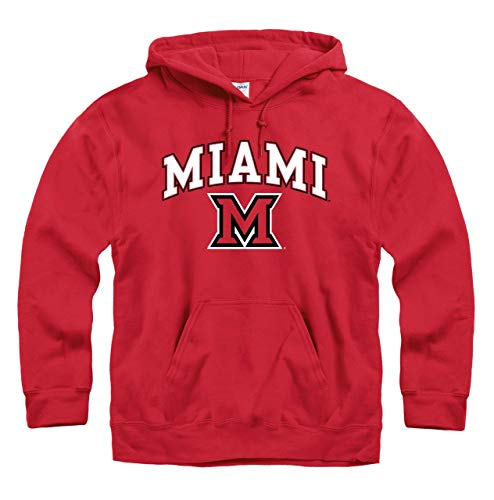 Miami Redhawks Arch & Logo Gameday Hooded Sweatshirt - Red ()