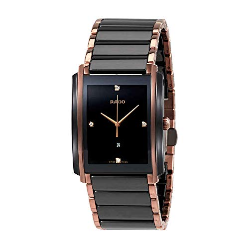 (Rado Integral Jubile Two-tone Black Ceramic and Rose Gold Mens Watch - R20207712)