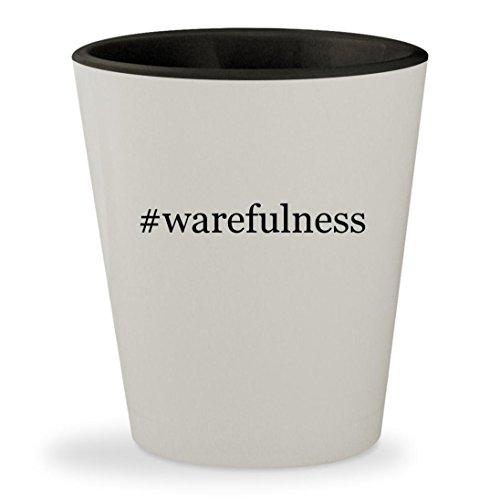 #warefulness - Hashtag White Outer & Black Inner Ceramic 1.5oz Shot Glass