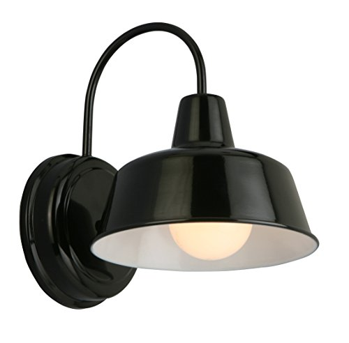 Design House 579367 Mason 1 Indoor Outdoor Wall Light, Black, 10.5 ,