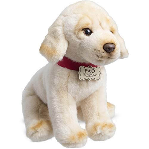 FAO Schwarz Golden Retriever Yellow Lab Puppy Dog Toy Plush 10 Inches, Ultra Soft and Snuggly Doll for Creative and Imagination Play, for Boys, Girls, Children Ages 3+, Playroom Nursery Pretend Pet ()