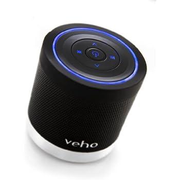 Veho VSS-009-360BT M4 Black | Bluetooth Speakers | Wireless Speakers | Portable Rechargeable Travel Speaker | Built in MP3 player