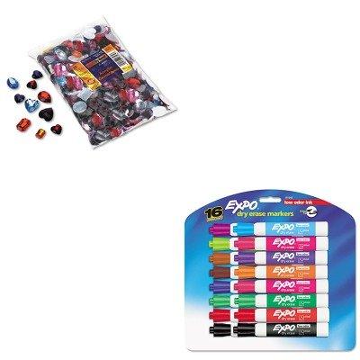 KITCKC3584SAN81045 - Value Kit - Chenille Kraft Gemstones Classroom Pack (CKC3584) and Expo Low Odor Dry Erase Markers (Value Gemstones)