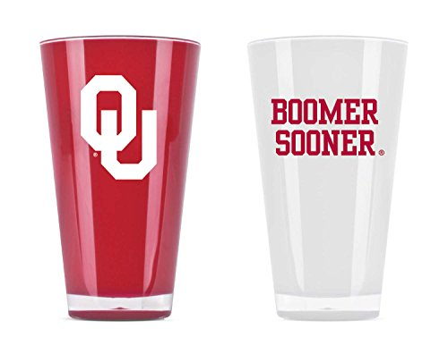Twin Pack Cup - NCAA Oklahoma Sooners 20oz Insulated Acrylic Tumbler Set of 2