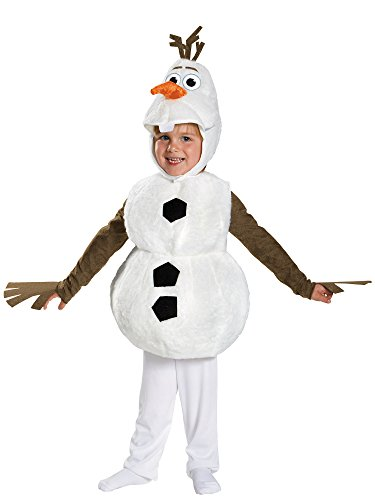 Disguise Baby's Disney Frozen Olaf Deluxe Toddler Costume,White,Toddler XS (12-18 -