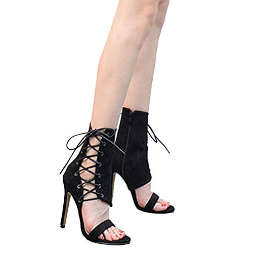 SSYUNO Big Sale Fashion Roman Buckle Strap Shoes Women Cryst